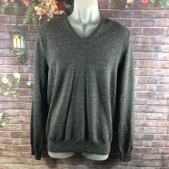 Express Other - Express Men's Gray Sweaters V-Neck Merino Wool M
